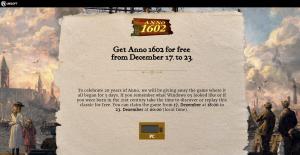Ubisoft verschenkt Anno 1602